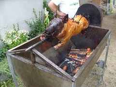 outdoor grill, barbecue, meat, pig roast, food, cuisine, barbecue grill,