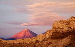 sunset on the volcano