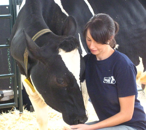 Katy Proudfoot at the UBC Dairy Education and Research Centre in Agassiz, BC.