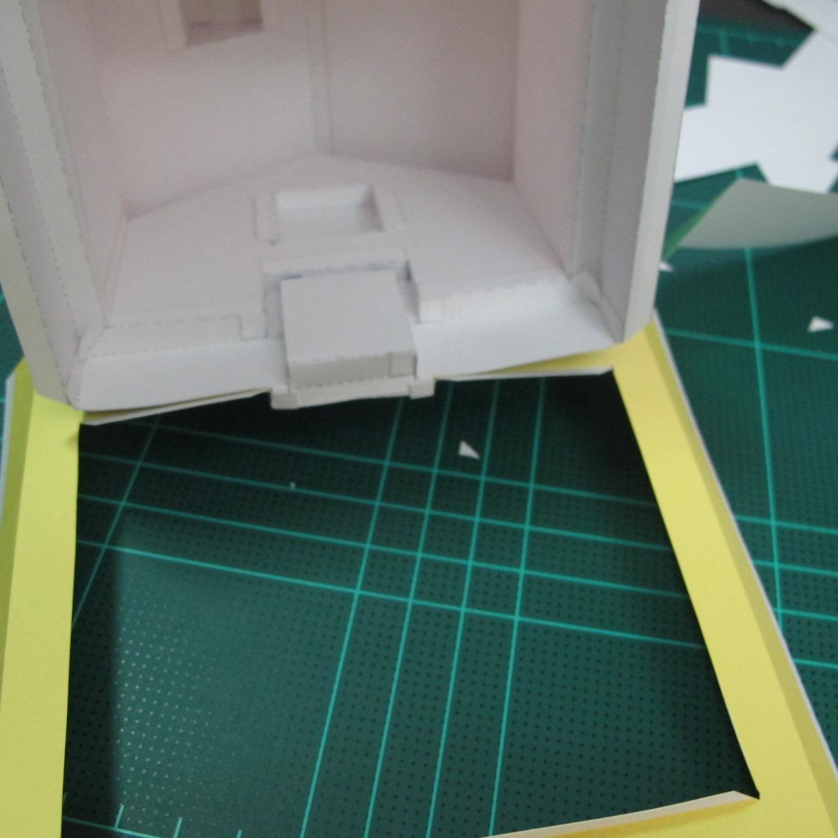 วิธีทำโมเดลกระดาษเป็นรูปบ้าน (Little House Papercraft Model) 014