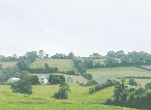 Irish Landscape (Digital Woodcut) by randubnick