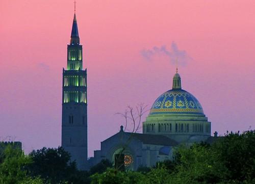 sunset church skyline dc washington catholic blinkagain musictomyeyeslevel1