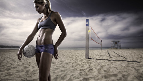 Morgan - Beach Volleyball by Joel Grimes Photography