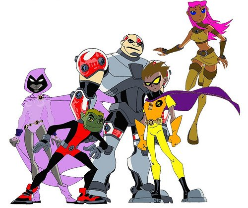 Random Miscolored Teen Titans Pic Without The -8874