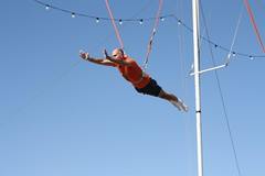 adventure, bungee cord, flying trapeze, performing arts, circus,