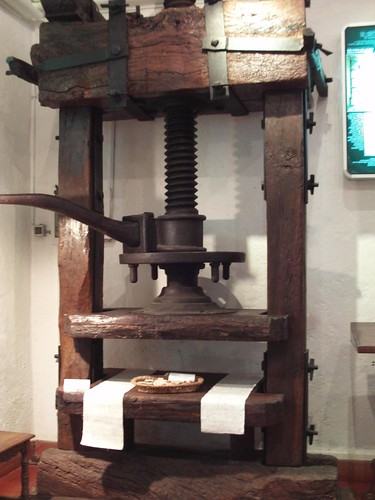Printing press at villa d'Este