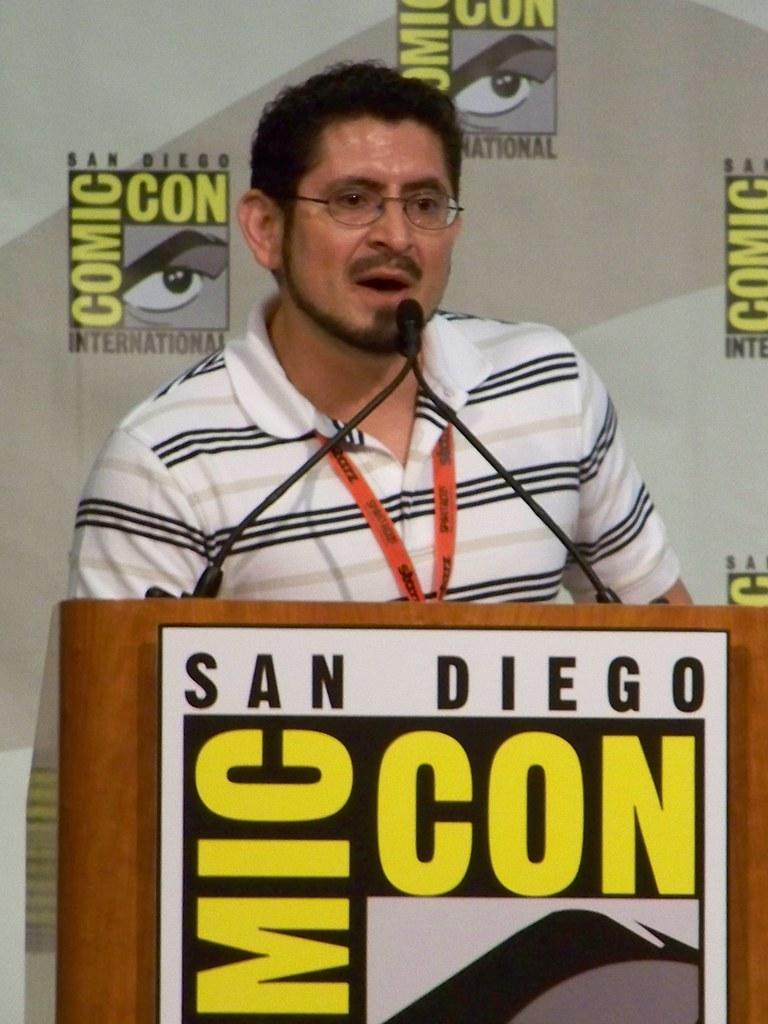 Eddie Berganza at the Geoff Johns Spotlight at San Diego Comic-Con International