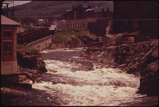 View North Along the Androscoggin River from the Brown Paper Company ... 06/1973