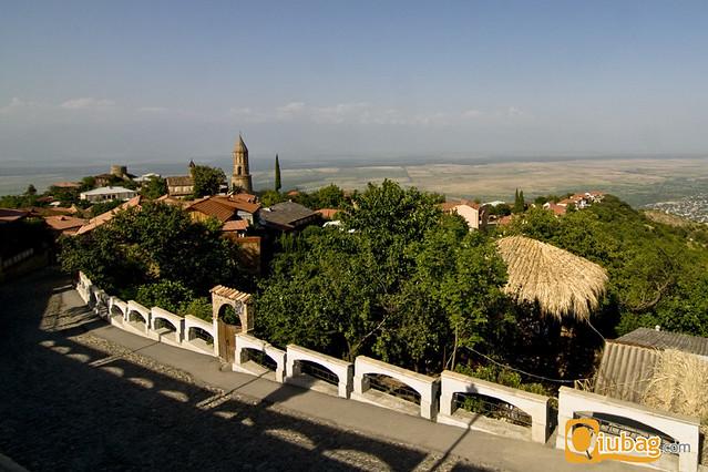 Panorama regionu Kachetia w Gruzji