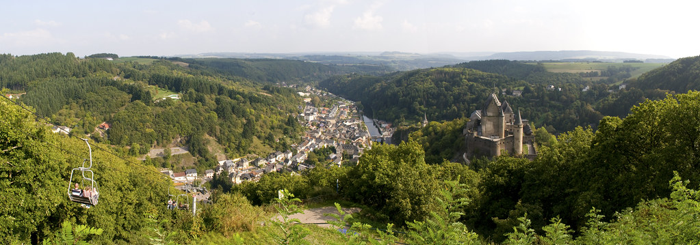 Panorama of Vianden, Luxembourg