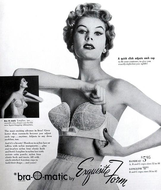 1950s Bra-O-Matic Vintage Bra Advertisement