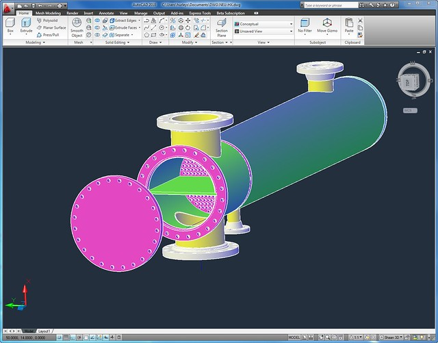 Autocad 3d Modeling 3d Model in Autocad 2010