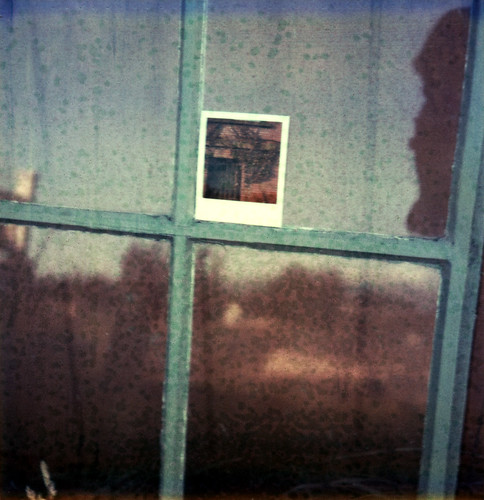 reflection film window brooklyn project landscape polaroid sx70 cottage expired sebastopol atz jeffhutton greatpolaroidgiveaway