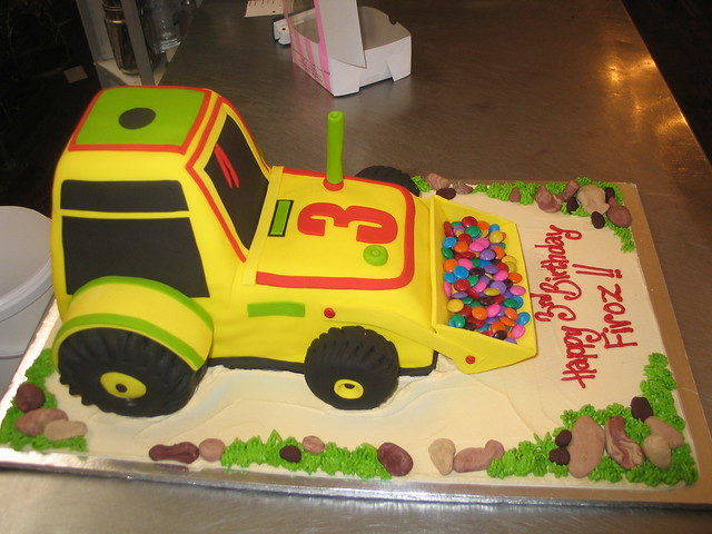 front-end loader birthday cake