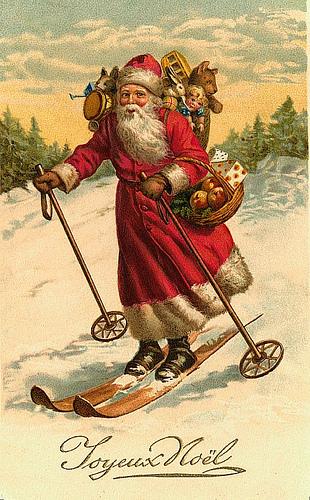 Vintage santa christmas postcard flickr photo sharing