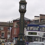 Joseph Chamberlain Memorial Clock and the 101 bus - Jewellery Quarter, Birmingham