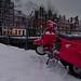 My Red Vespa parked in the Jordaan by B℮n