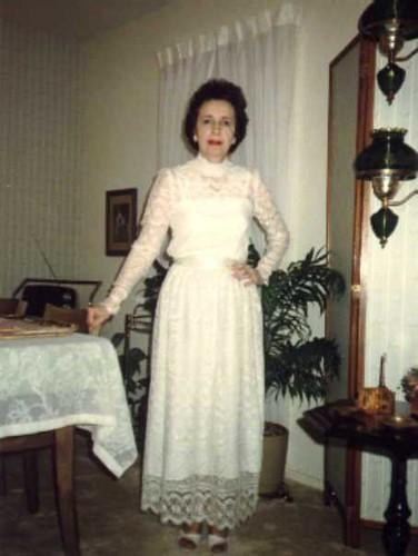 Aunt Carmen 1987 in wedding dress