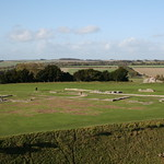 Old Sarum Castle, Salisbury, Wiltshire, South West England