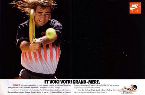 Nike tennis print ad