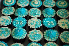 HCC012-2011. Turquoise colour hantaran cupcakes