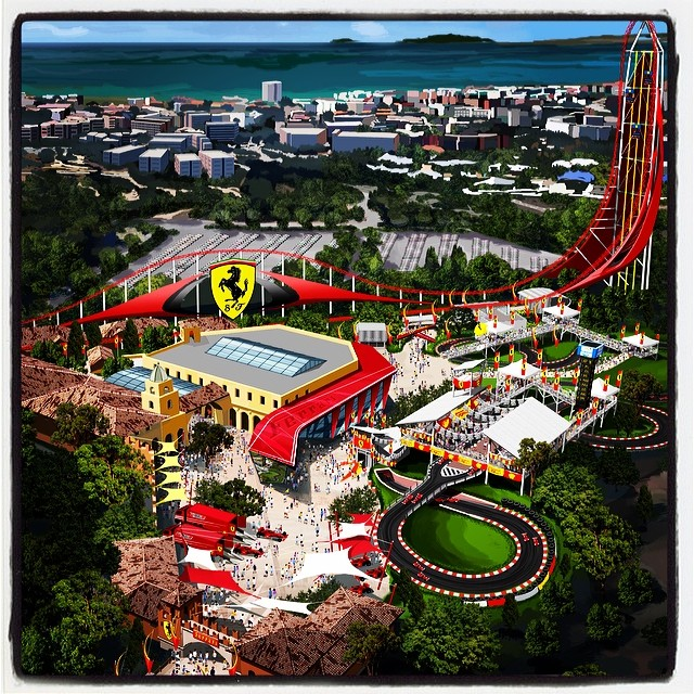 Ferrari Land theme park planned for PortAventura Resort in Spain    Are you ready for Ferrari Land? Well, PortAventura Entertainment has signed a licensing agreement with a new Prancing Horse theme park inside the PortAventura resort and theme park outsid