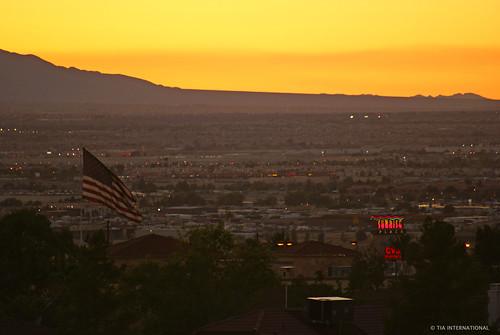 city sunset tia landscape lasvegas flag horizon nevada meadows valley sprawl july4th independenceday sincity oldglory vast sonyalpha tosinarasi tiascapes ©tiainternationalphotography