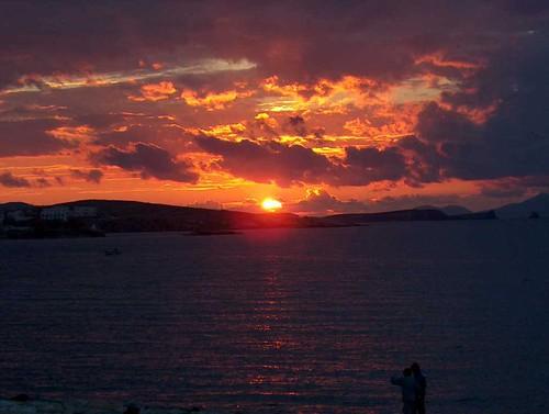 Νότιο Αιγαίο - Πάρος - Παροικιά Ηλιοβασίλεμα στην Παροικιά, Πάρος