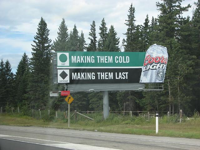Opinion bikini billboard coors light