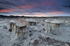 Bisti Wilderness, New Mexico, at sunrise.
