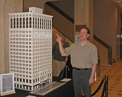 Ford Building LEGO Model displayed at the Ford Building 100th Anniversary Party