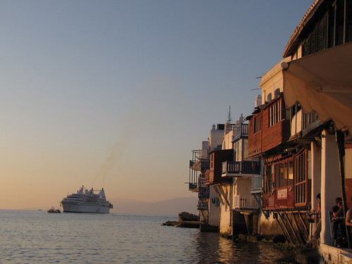 Little Venice with Cruise Ship