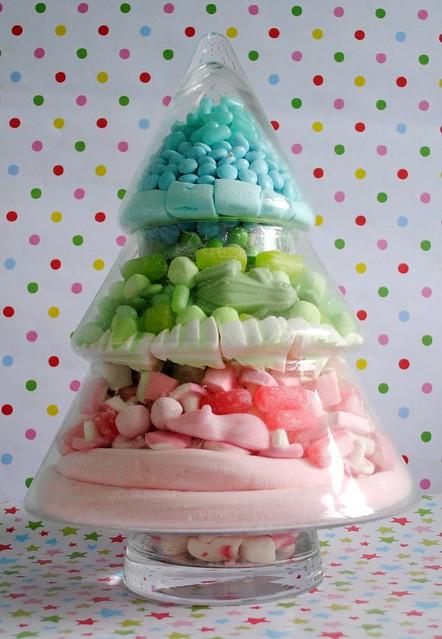 Candy Christmas tree jar