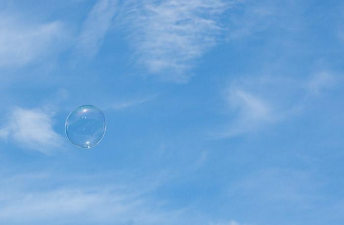 bubble in sky.