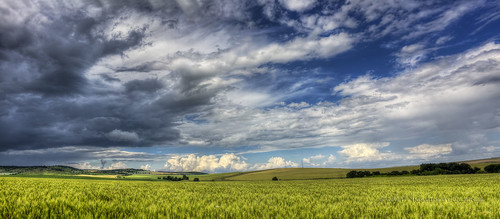 travel panorama painterly texture field weather clouds rural landscape dynamic wheat hills bulgaria didenze