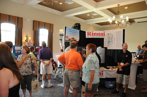The Rinnai booth