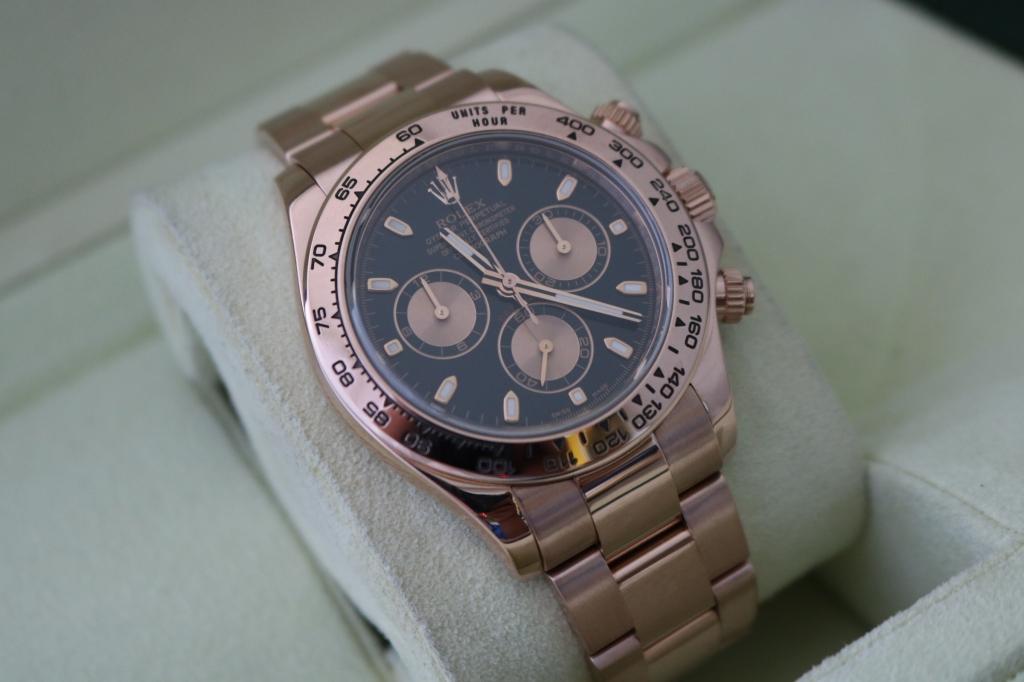 Đồng hồ rolex daytona 6 số 116505 – vàng hồng 18k – size 40mm