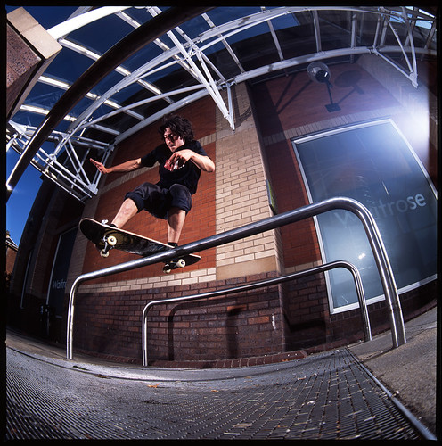 Chris Barrett_Frontside Boardslide.