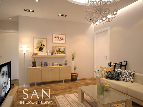 Small flat interior design of mrs huong a photo on for Flat interior designs