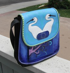 White Heron Purse, standing by pennylrichardsca (now at ipernity)