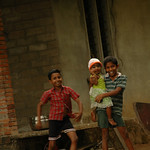 Sibling Fun - Kerala Backwaters, India