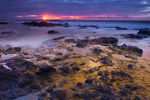 america sunrise hawaii lava north pools kauai kapaa