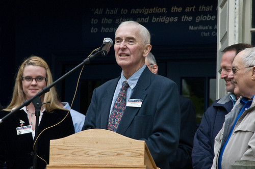 Don at the Treworgy Planetarium Dedication Ceremony