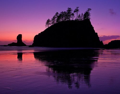 Second Beach Twilight - Olympic National Park