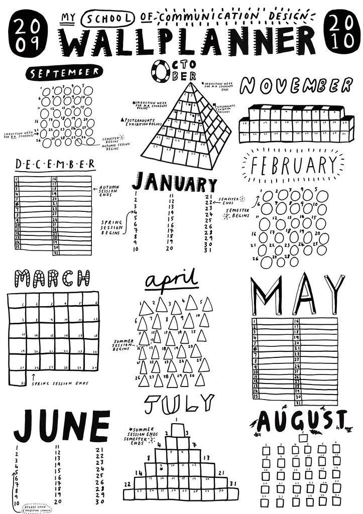 kingston uni wallplanner   i designed a poster/calendar for