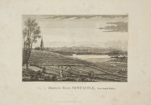 034 - Plate 9 View of Hunter's River Newcastle New South Wales from Captain James Wallis - Historical Account (1821)