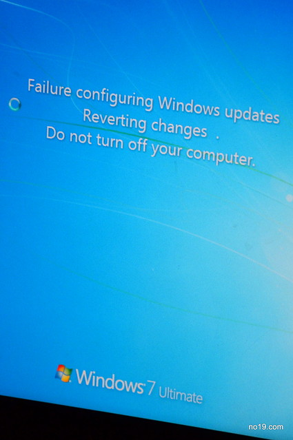 failure configuring windows update reverting changes win7