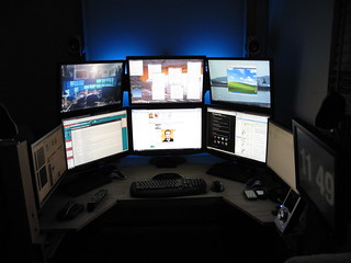 My 9 monitor workstation