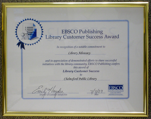 Library Customer Success Award