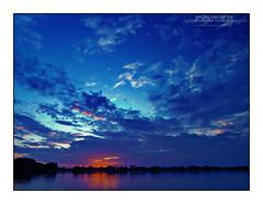 HDR Blue Sunset @ Kralingse Plas, Rotterdam